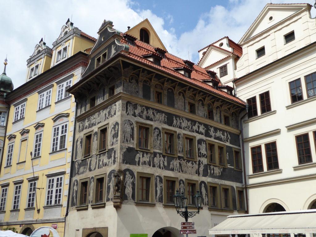 Typische Hausfassade