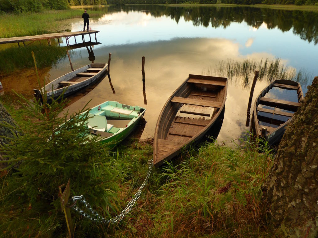 Boote mit Angler
