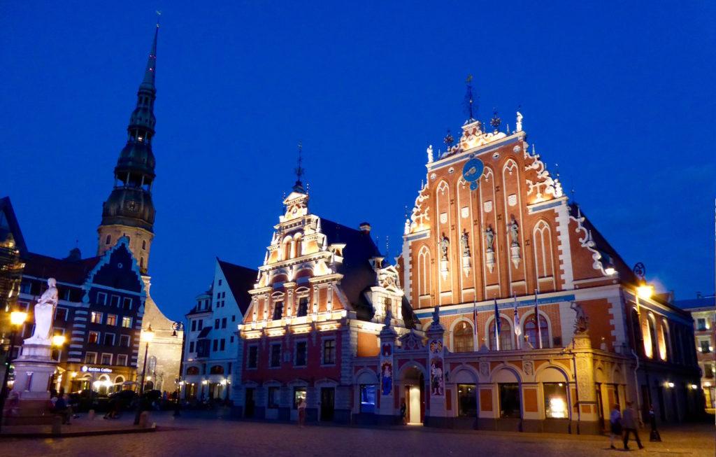 Nächtliches Riga