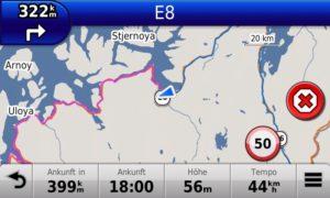 322 km 'geradeaus'