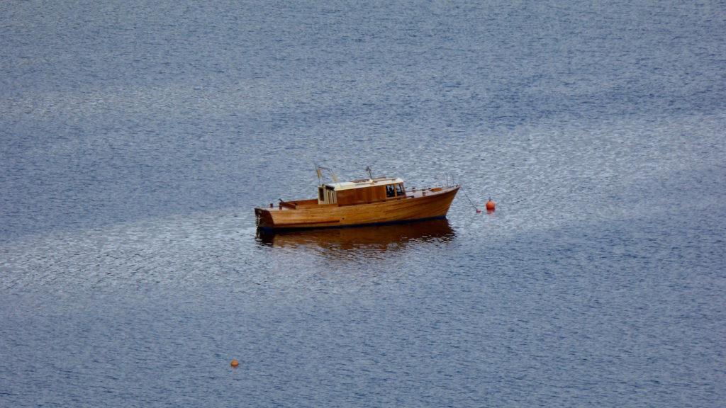 Kleines altes Fischerboot