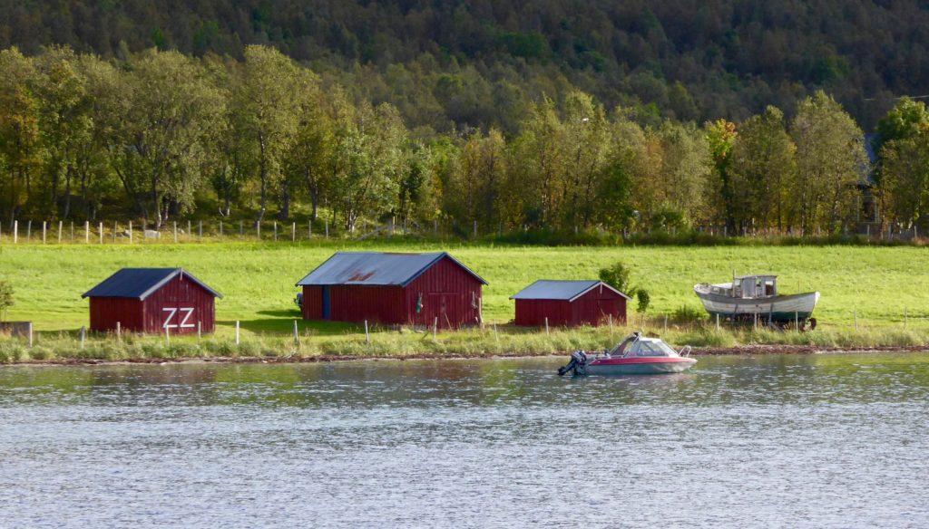 Fischerhäuser am Straumfjord