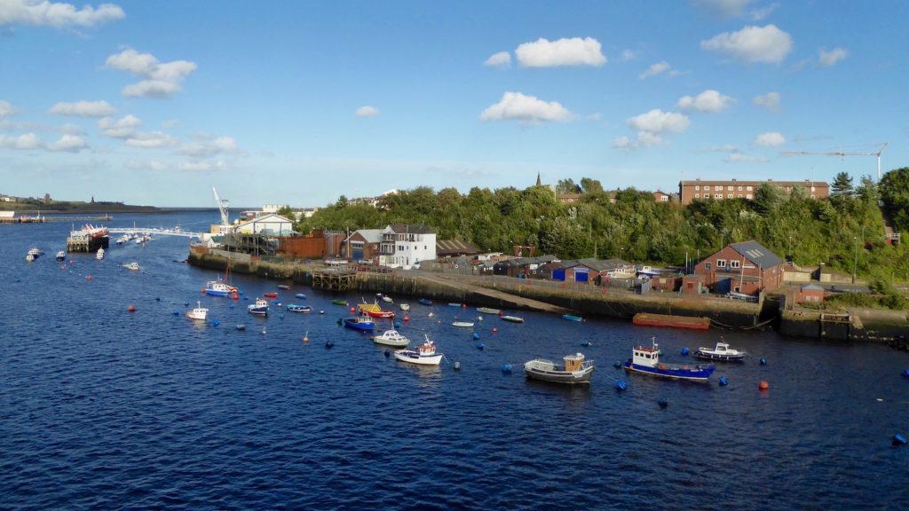 Boote im Hafen von Newcastle