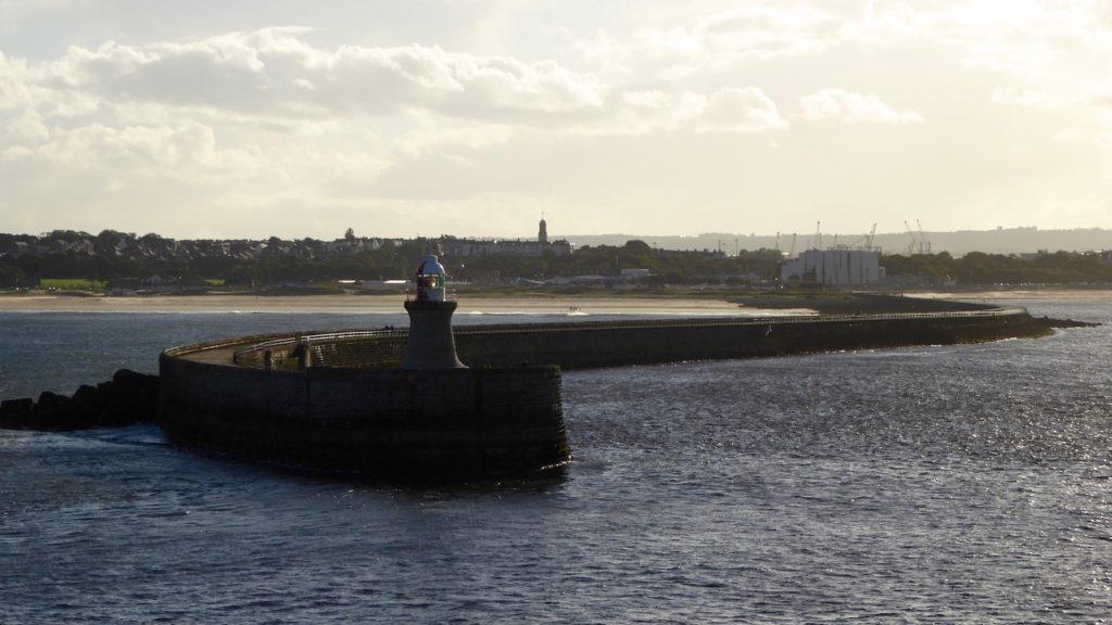 Leuchtturm Newcastle Hafen in Abendstimmung