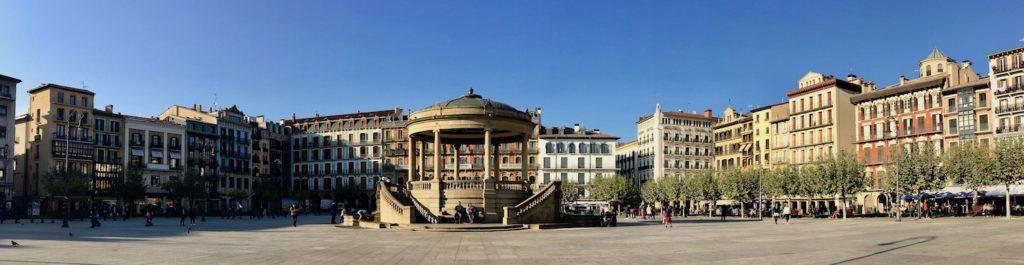 Plaza del Castillo, Pamplona, Navarra, Spanien