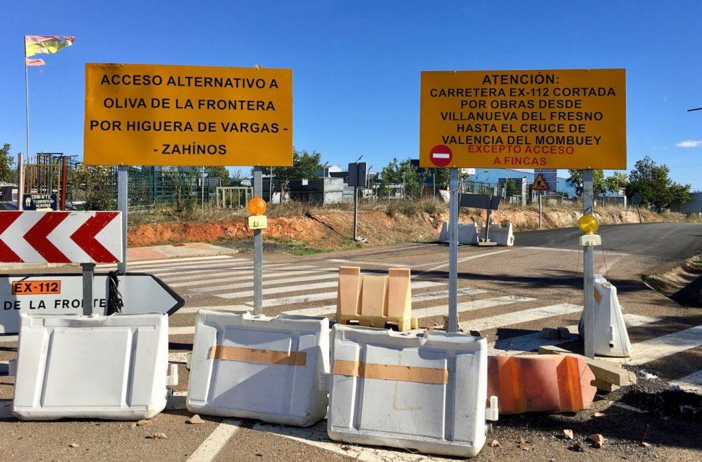 Strassensperre in Spanien