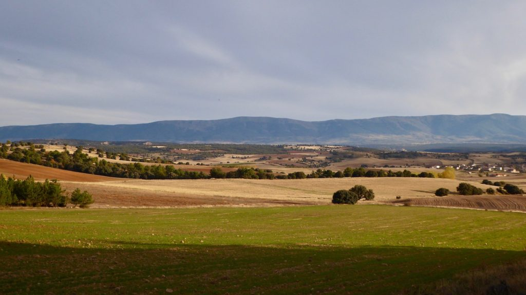 Aussicht bei Rebollo, Kastilien-León, Spanien