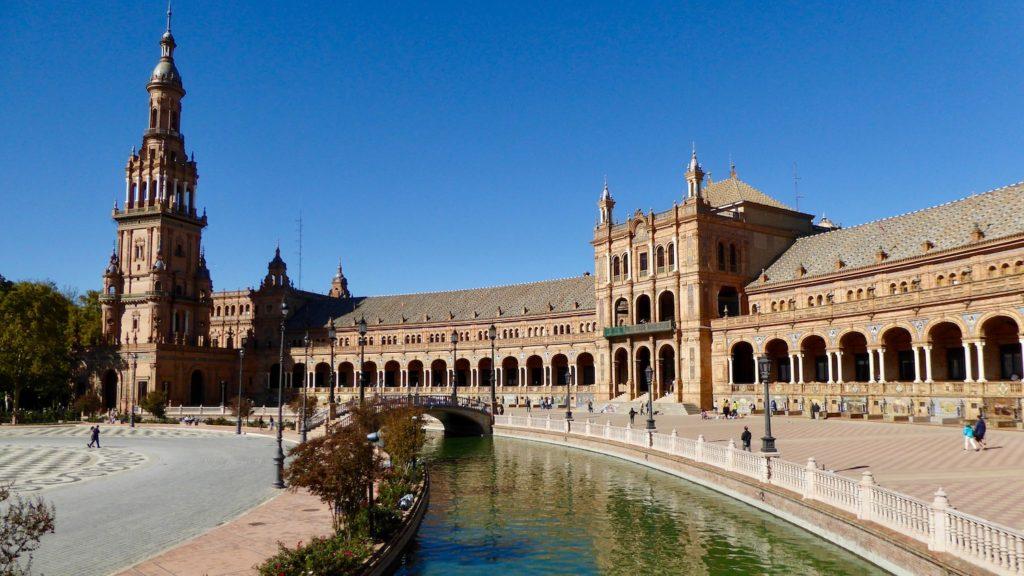 Hauptgebäude des Plaza de España, Sevilla, Spanien