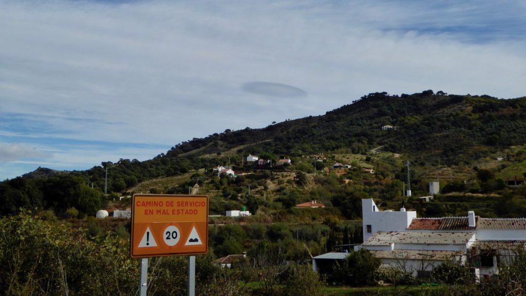 Ufo-Sichtung bei Ojén, Andalusien, Spanien