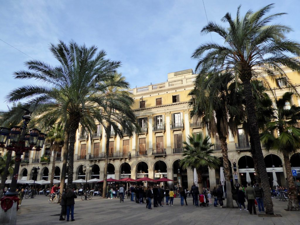 Plaça Real, Katalonien, Barcelona, Katalonien, Spanien