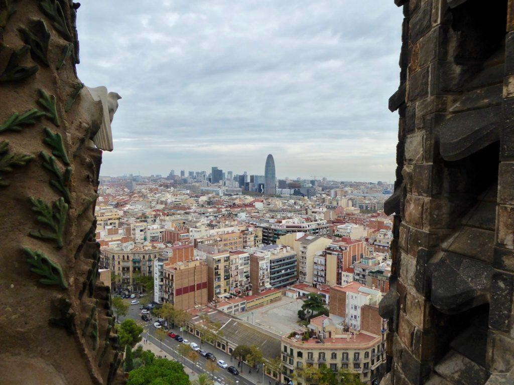 Aussicht von der Sagrada Familia, Barcelona, Katalonien, Spanien