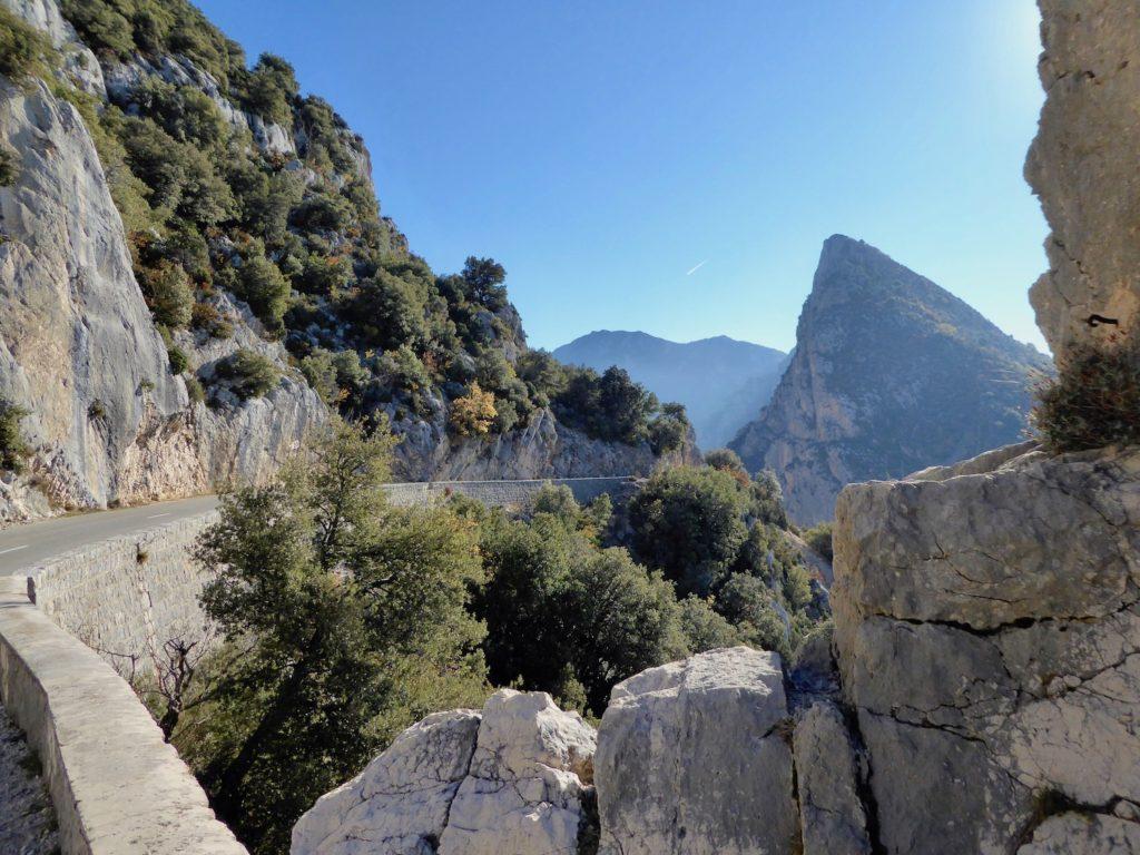 Ausblick bei Moustiers-Ste.-Marie, Provence-Alpes-Côte d'Azur, Frankreich
