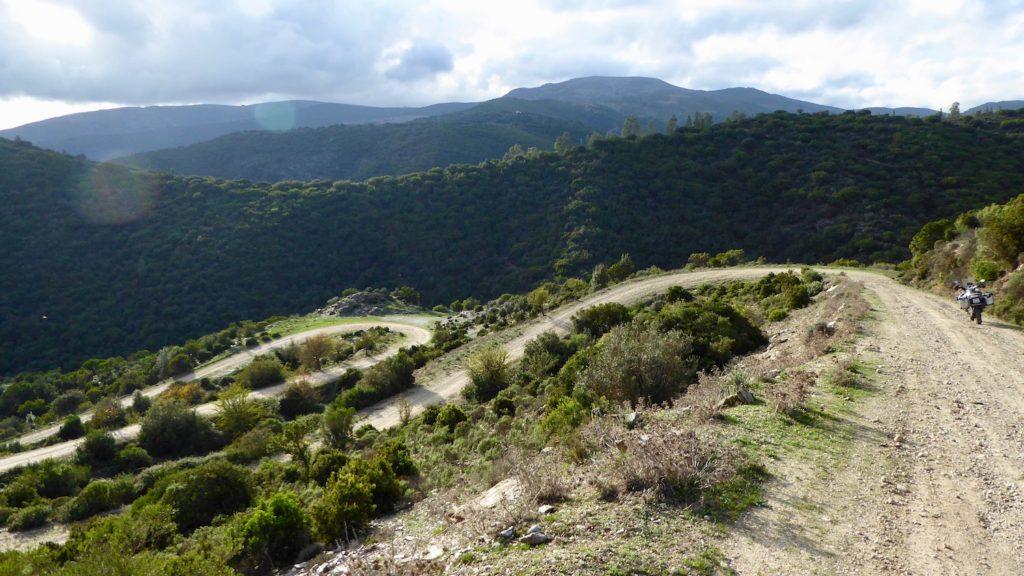 Schotter bei Ulassai, Sardinien, Italien