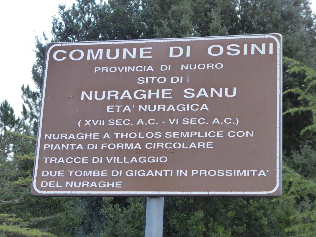 Nuraghe Sanu, Osini, Sardinien, Italien