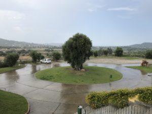 Regen in Cardedu/Sardinien