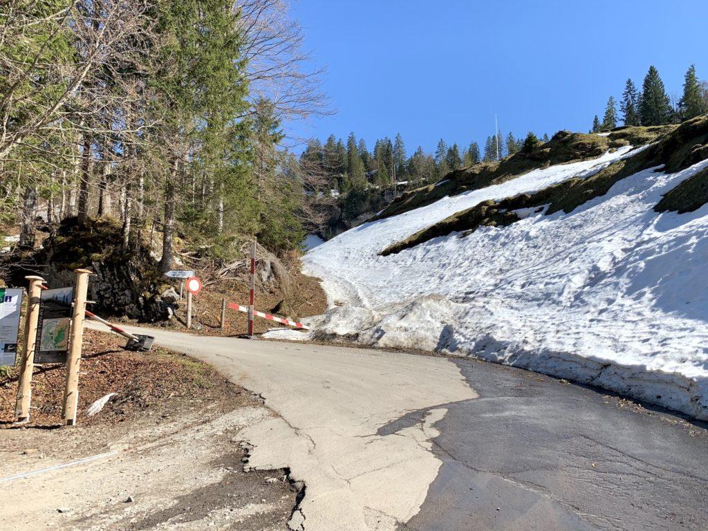 Wintersperre Pragelpass